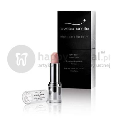 SWISS SMILE Night Care Lip Balm balsam 3,5ml (E368) - Odżywiający BALSAM do ust z witaminą A i E