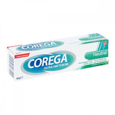 COREGA Neutral 40g - super mocny klej do protez, neutralny smak