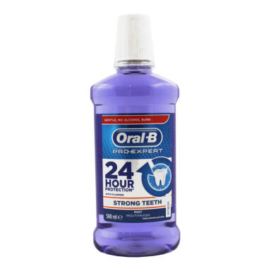 ORAL-B Pro-Expert Strong Teeth 500 ml - płyn do płukania jamy ustnej (fioletowy)