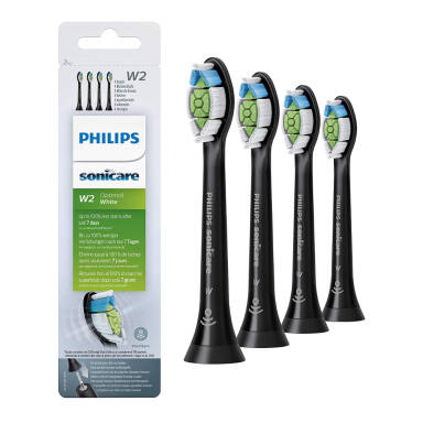 Philips SONICARE końcówki DiamondClean OPTIMAL White Standard 4 szt. HX6064/11 BLACK