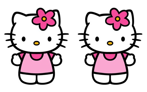 HELLO KITTY kotki dwa