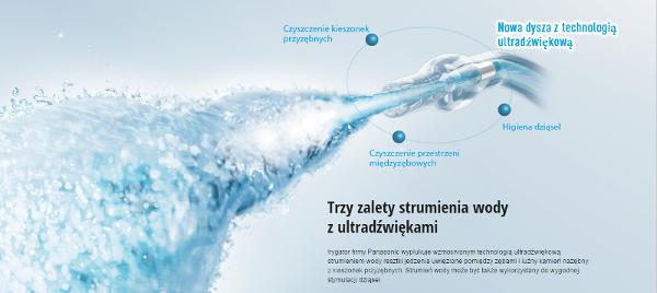 irygatror_dentystyczny_Panasonic_EW1611_technologia_ultradźwiękowa
