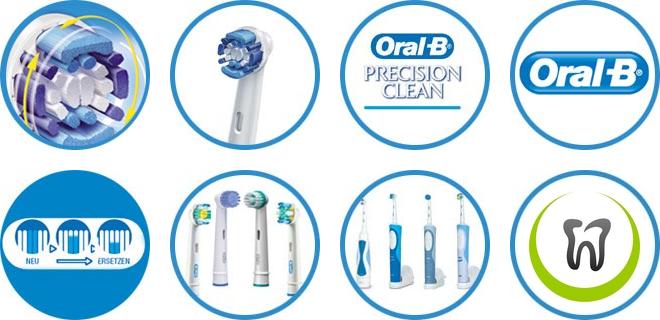 Końcówki Do Szczoteczki Elektrycznej Oral B Precision Clean Eb20 4